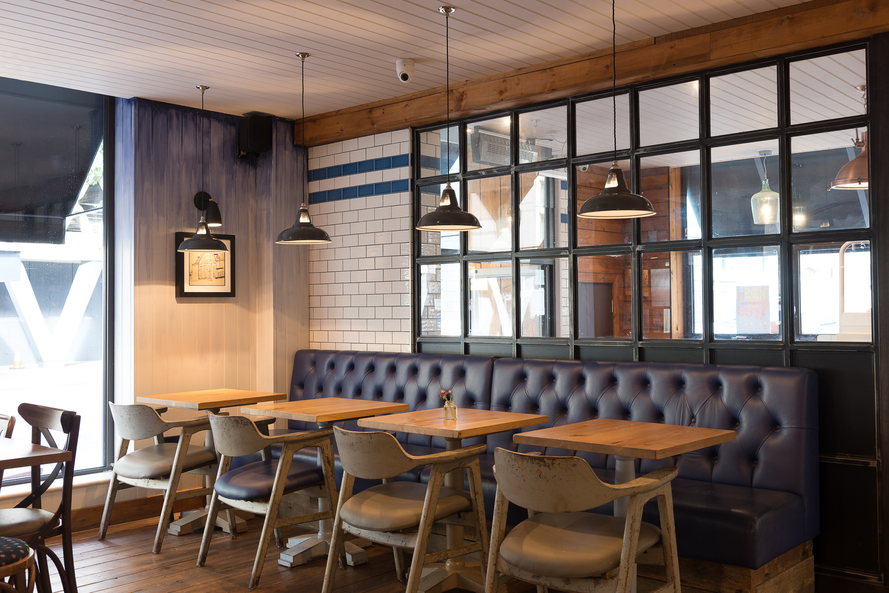 Dark Grey Coolicon Pendant Lights in Bristol Restaurant