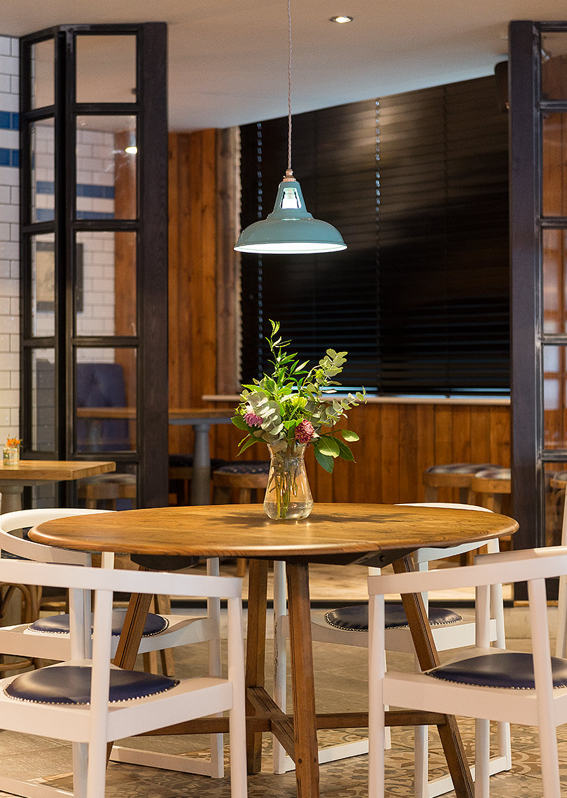 Turquoise Coolicons over seating area in The Prince Street Social - View product in shop
